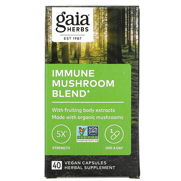 Immune Mushroom Blend, 40 Vegan Capsules