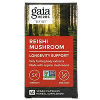 Gaia Herbs, 靈芝,40 粒全素膠囊