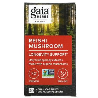 Gaia Herbs, Reishi Mushroom, 40 Vegan Capsules