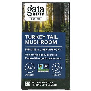 Gaia Herbs, Turkey Tail Mushroom, 40 Vegan Capsules