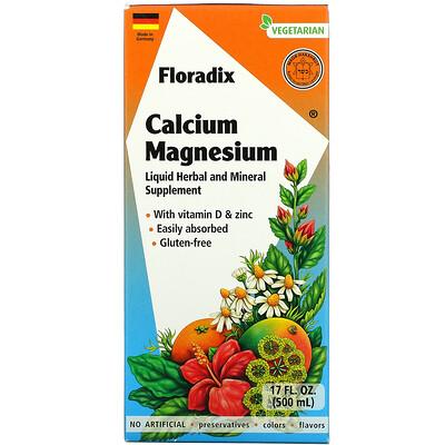 Gaia Herbs Floradix, Calcium Magnesium, 17 fl oz (500 ml)