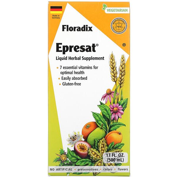 Floradix, Epresat, Liquid Herbal Supplement, 17 fl oz (500 ml)