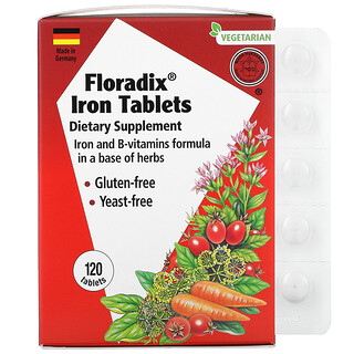 Gaia Herbs, Floradix, Iron Tablets, 120 Tablets