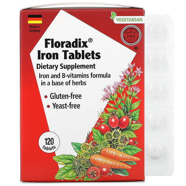 Floradix, Iron Tablets, 120 Tablets