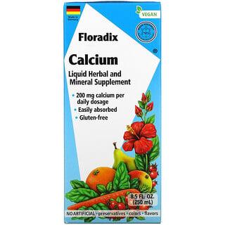 Gaia Herbs, Floradix, Calcium, 200 mg, 8.5 fl oz (250 ml)