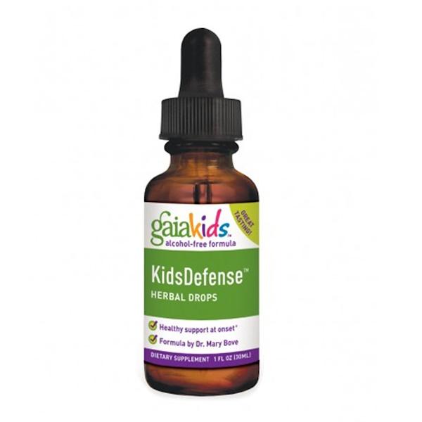 Gaia Herbs, القطرات العشبية لتعزيز دفاعات الأطفال، صيغة بدون كحول، 1 أونصة سائلة (30 ملل)