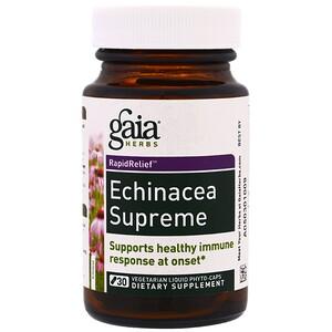 Гайа Хербс, Echinacea Supreme, 30 Vegetarian Liquid Phyto-Caps отзывы покупателей