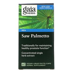Гайа Хербс, Saw Palmetto for Men, 60 Vegan Liquid Phyto-Caps отзывы покупателей