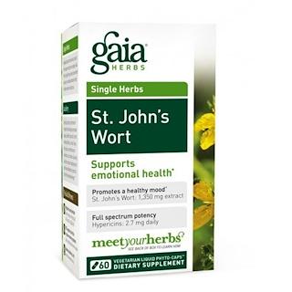 Gaia Herbs, St. John's Wort, 60 Vegetarian Liquid Phyto-Caps
