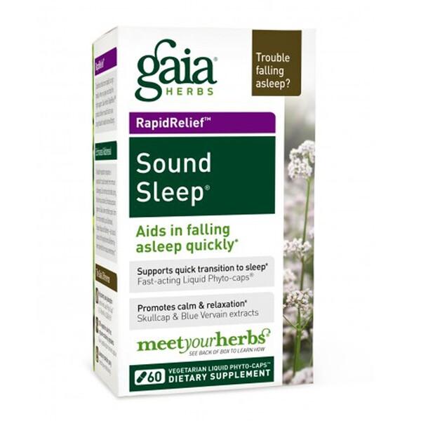 Gaia Herbs, Sound Sleep, 60 Vegetarian Liquid Phyto-Caps (Discontinued Item)
