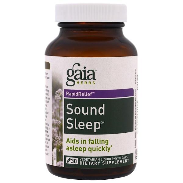 Gaia Herbs, Sound Sleep, 30 Vegetarian Liquid Phyto-Caps (Discontinued Item)