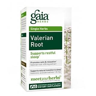 Gaia Herbs, Baldrianwurzel, 60 Vegetarisch Flüssiges Phyto-Kapseln