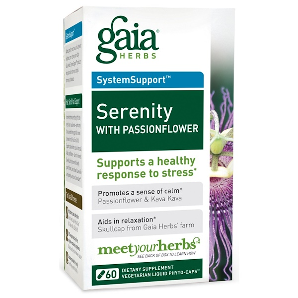 Gaia Herbs, Serenity with Passionflower, 60 Veggie Liquid Phyto-Caps (Discontinued Item)