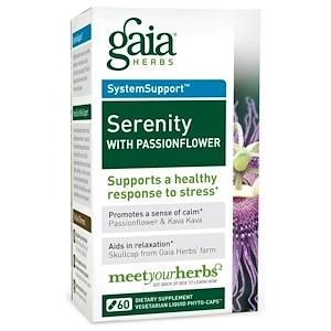Гайа Хербс, Serenity with Passionflower, 60 Veggie Liquid Phyto-Caps отзывы