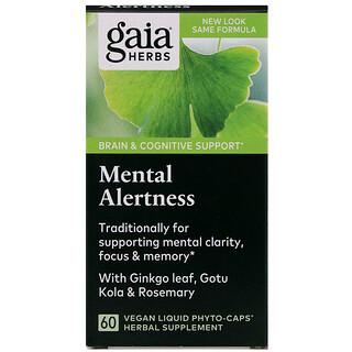Gaia Herbs, DailyWellness, Mental Alertness, 60 Vegetarian Liquid Phyto-Caps