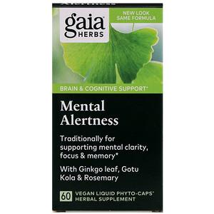 Гайа Хербс, DailyWellness, Mental Alertness, 60 Vegetarian Liquid Phyto-Caps отзывы