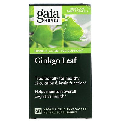 Купить Gaia Herbs Лист гинкго, 60 жидких капсул на растительной основе