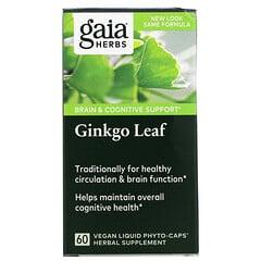 Gaia Herbs, 銀杏葉,60素食液體植物膠囊