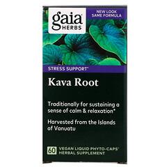 Gaia Herbs, 卡瓦根素食液體植物膠囊,60粒