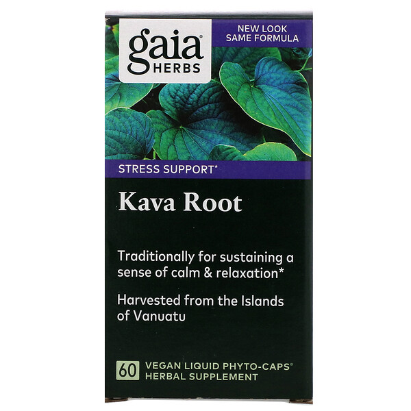 Kava Root, 60 Vegan Liquid Phyto-Caps