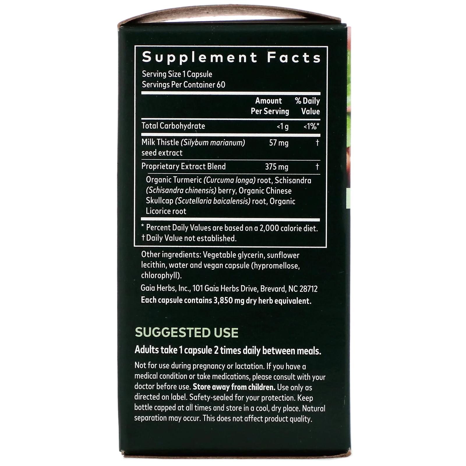 Gaia Herbs, Liver Health, 60 Vegan Liquid Phyto-Caps - iHerb
