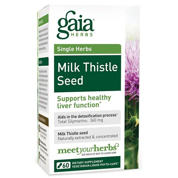 Gaia Herbs, Milk Thistle Seed, 60 Vegetarian Liquid Phyto-Caps