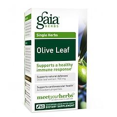 Gaia Herbs, オリーブの葉、 植物性液体フィトカプセル60個