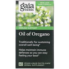 Gaia Herbs, 牛至油,60 粒純素液體植物膠囊
