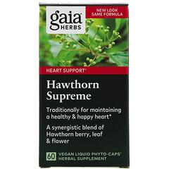 Gaia Herbs, 優質山楂補充劑,60 粒素食液體 Phyto-Caps 膠囊