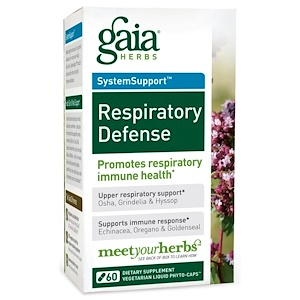 Гайа Хербс, Respiratory Defense, 60 Vegetarian Liquid Phyto-Caps отзывы