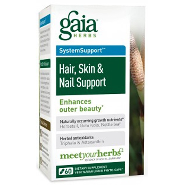 Gaia Herbs, Hair, Skin & Nail Support, 60 Vegetarian Liquid Phyto-Caps