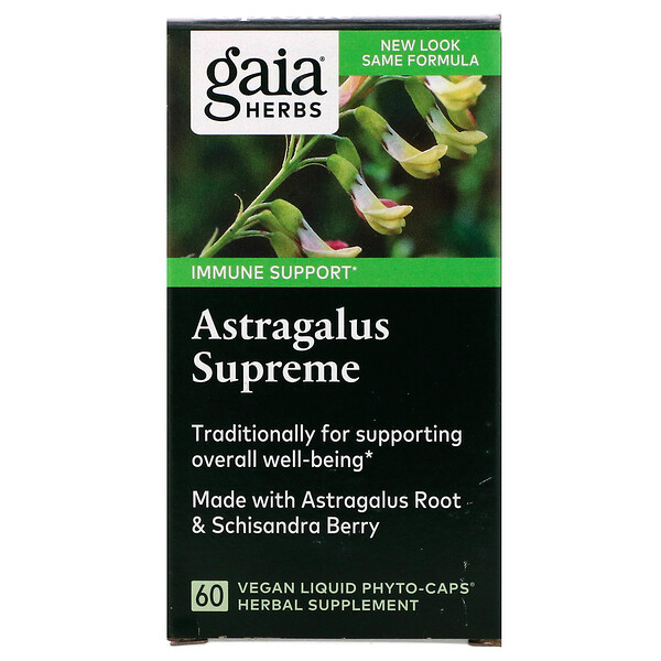Gaia Herbs, Astrágalo Supremo, 60 Fitocápsulas líquidas veganas