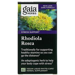 Гайа Хербс, Rhodiola Rosea, 60 Vegan Liquid Phyto-Caps отзывы покупателей