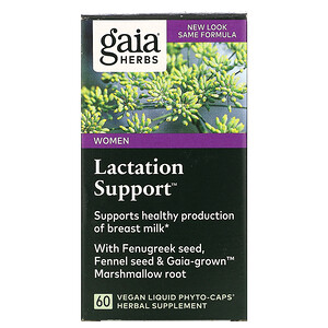 Гайа Хербс, Lactation Support for Women, 60 Vegan Liquid Phyto-Caps отзывы покупателей