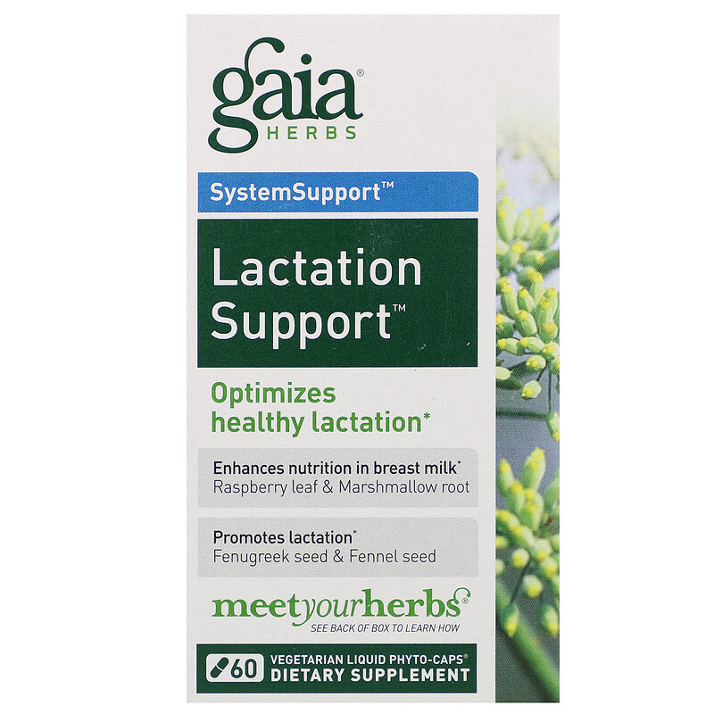 SystemSupport, Lactation Support, 60 Vegetarian Liquid Phyto-Caps