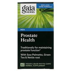 Gaia Herbs, 攝護腺健康植物提取物膳食軟膠囊,60粒