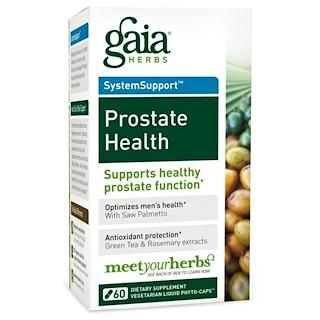 Gaia Herbs, プロステート・ヘルス(前立腺の健康)、60粒(ベジタリアンリキッドフィトキャップ)