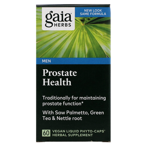 Gaia Herbs, ProstateHealth, 60cápsulas Liquid Phyto-Caps veganas