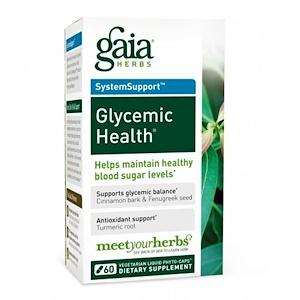 Гайа Хербс, SystemSupport, Glycemic Health, 60 Veggie Liquid-Filled Caps отзывы