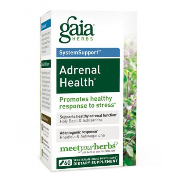 Gaia Herbs, Adrenal Health, 60 Vegetarian Liquid Phyto-Caps