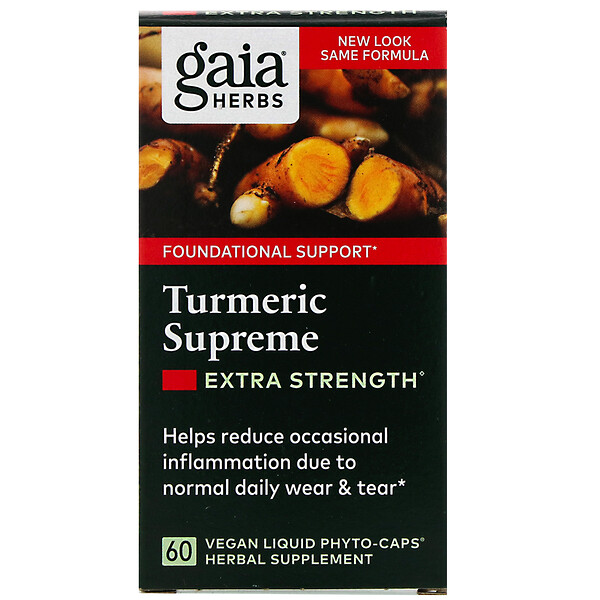 Turmeric Supreme, Extra Strength, 60 Vegan Liquid Phyto-Caps