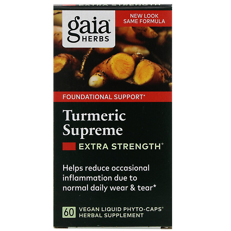 Turmeric Supreme, Extra Strength, 60 Vegan Liquid Phyto-Caps