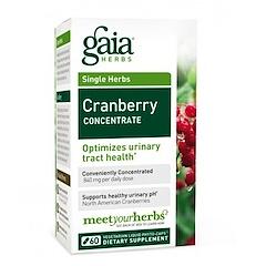 Gaia Herbs, 濃縮クランベリー、60ベジタリアン リキッド ベジカプセル