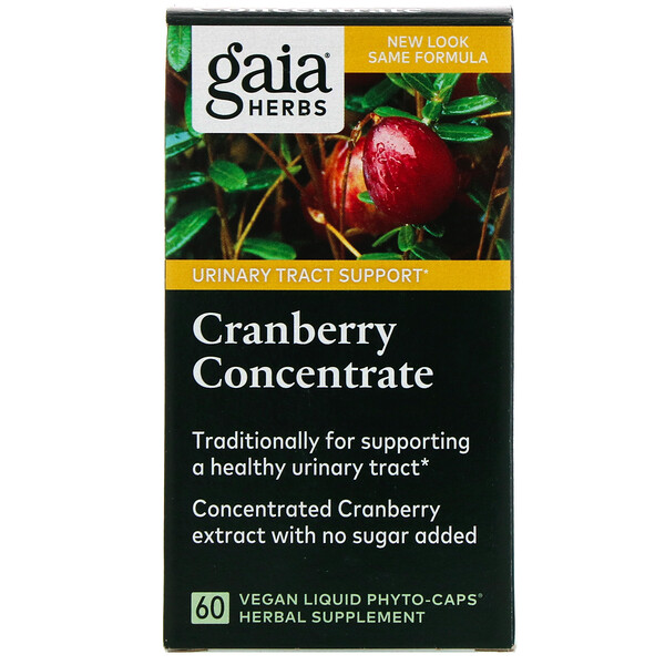 Gaia Herbs, Cranberry Concentrate, 60 Vegan Liquid Phyto-Caps