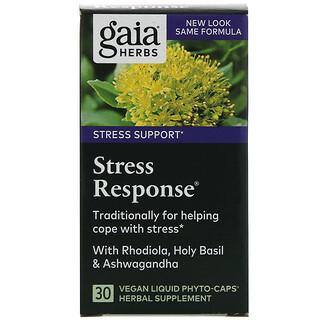 Gaia Herbs, Stress Response, 30 Vegan Liquid Phyto-Caps