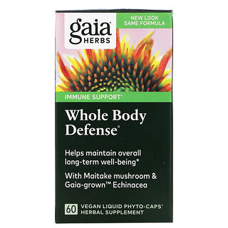 Gaia Herbs, Whole Body Defense, 60 Vegan Liquid Phyto-Caps
