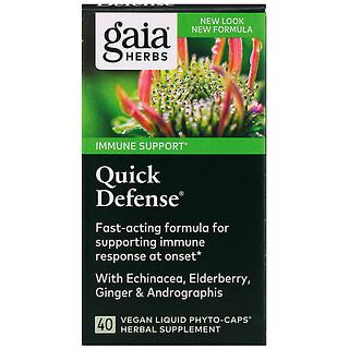 Gaia Herbs, Quick Defense, 40веганских капсул Liquid Phyto-Caps