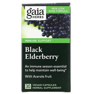 Gaia Herbs, Black Elderberry with Acerola Fruit, 30 Vegan Capsules