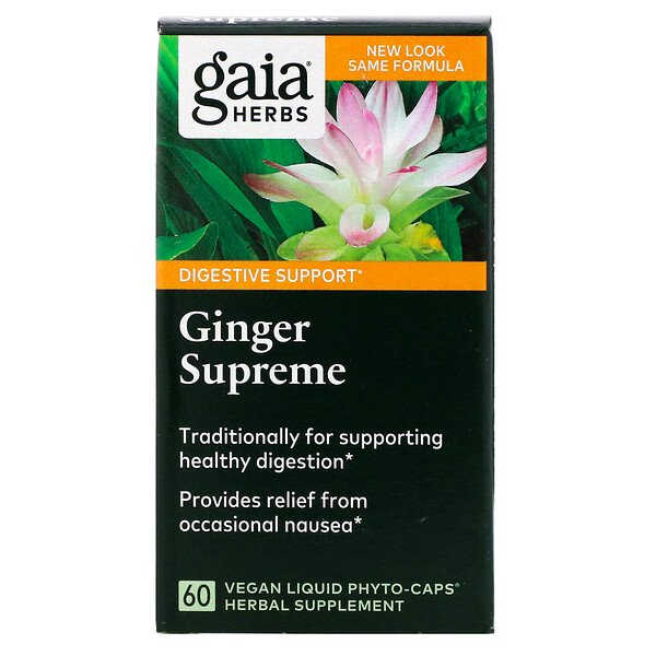 Ginger Supreme, 60 Vegan Liquid Phyto-Caps