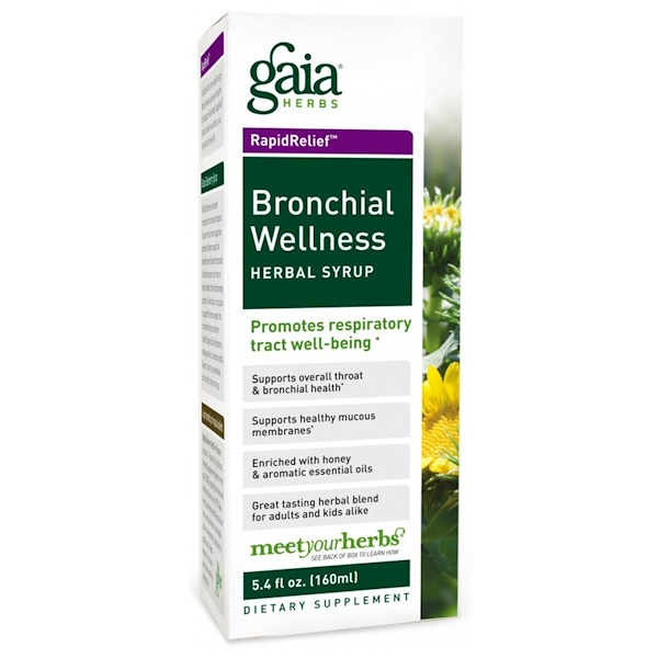 Gaia Herbs, Rapid Relief, Bronchial Wellness Herbal Syrup, 5.4 fl oz (160 ml)